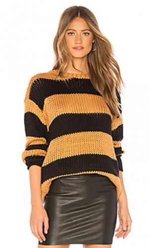 Пуловер amber Lovers + Friends. Цвет: коричневый