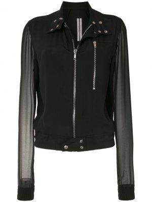 Куртка-бомбер с прозрачными рукавами Rick Owens. Цвет: черный