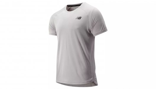 Футболки R.W.T. SHORT SLEEVE TOP New Balance. Цвет: серый