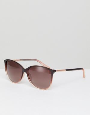 Круглые солнцезащитные очки коричневого цвета TB1495 147 Rav Ted Baker. Цвет: коричневый