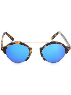 Солнцезащитные очки Milan Illesteva. Цвет: синий