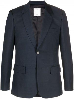 Однобортный пиджак Sandro Paris. Цвет: синий