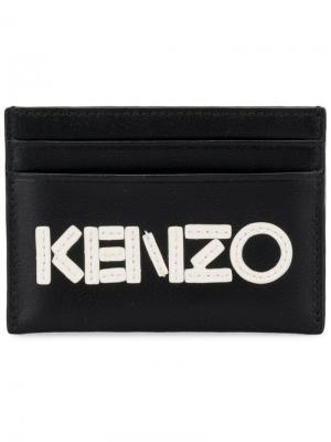 Маленький футляр для карт с логотипом Kenzo. Цвет: черный