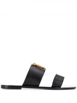 Сандалии Virtus Versace. Цвет: черный