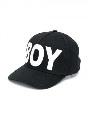 Бейсболка с вышитым логотипом Boy London Kids. Цвет: черный