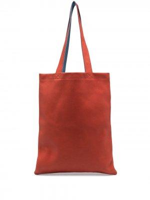 Большая сумка-тоут Rick Owens. Цвет: оранжевый