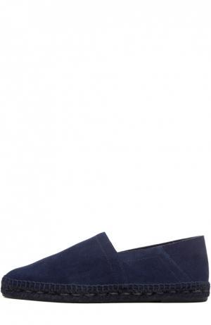 Замшевые эспадрильи Tom Ford. Цвет: синий