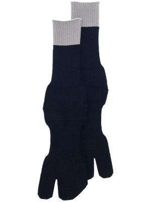 Носки с контрастной полоской Maison Margiela. Цвет: синий