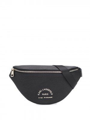 Поясная сумка Karl Lagerfeld. Цвет: черный