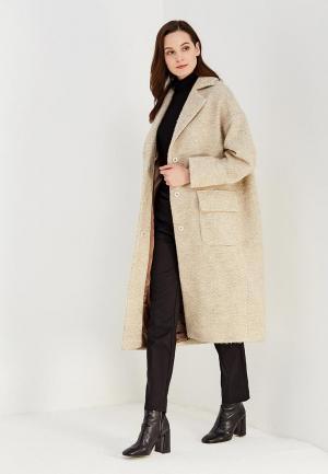 Пальто AzellRicca Azell'Ricca. Цвет: бежевый