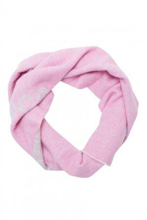 Двусторонний шерстяной шарф MSGM. Цвет: розовый