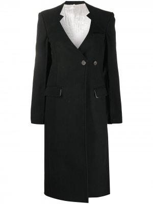 Пальто с вырезами Peter Do. Цвет: черный