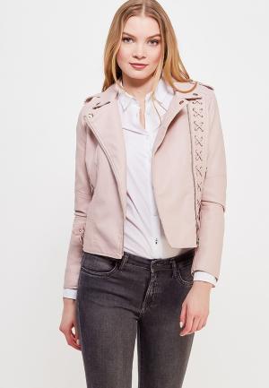 Куртка кожаная Imocean. Цвет: розовый