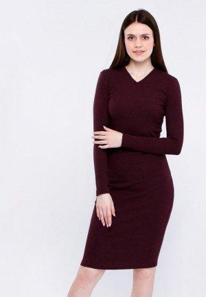 Платье Апрель. Цвет: бордовый