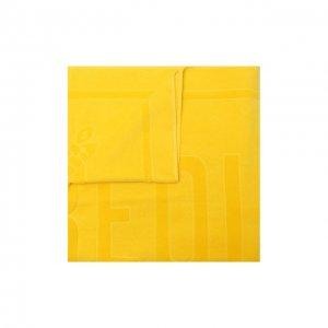 Хлопковое полотенце Vilebrequin. Цвет: жёлтый