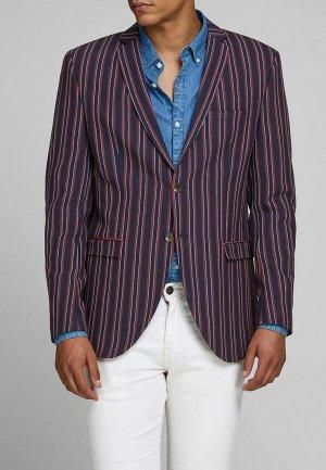 Пиджак Jack & Jones. Цвет: синий