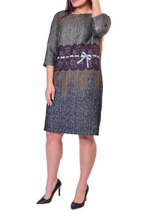 Платье Forus. Цвет: серебристый