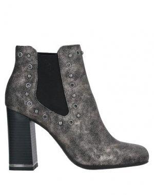Полусапоги и высокие ботинки GATTINONI. Цвет: свинцово-серый