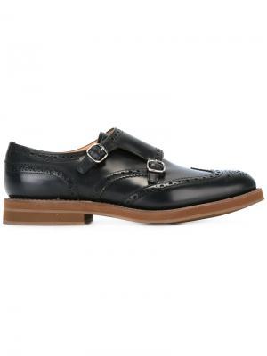 Churchs туфли-монки с пряжками Church's. Цвет: черный