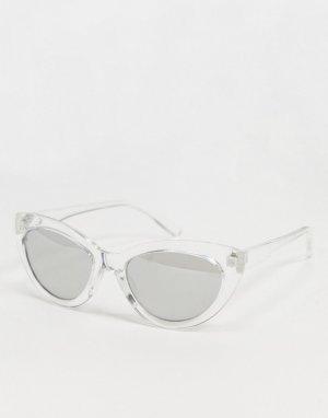 Прозрачные солнцезащитные очки в крупной оправе -Зеленый цвет AJ Morgan