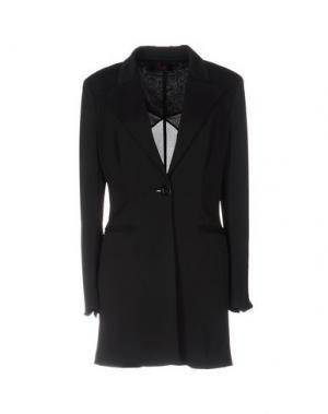 Легкое пальто BETTA CONTEMPORARY COUTURE. Цвет: черный