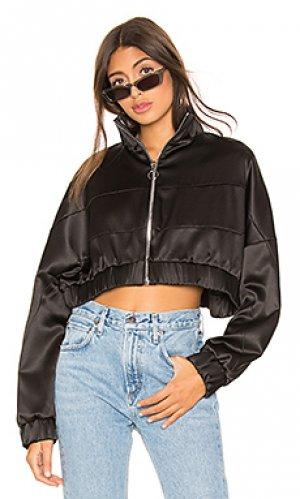 Укороченная куртка satin Frankie B. Цвет: черный