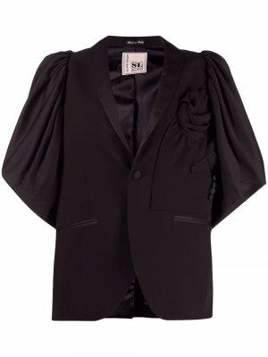Блейзер с объемными рукавами Antonio Marras. Цвет: черный