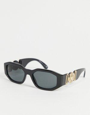 Солнцезащитные очки в стиле унисекс квадратной черной оправе 0VE4361-Черный цвет Versace