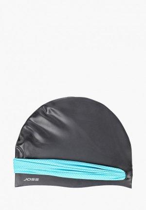 Шапочка для плавания Joss двухслойная. Цвет: черный