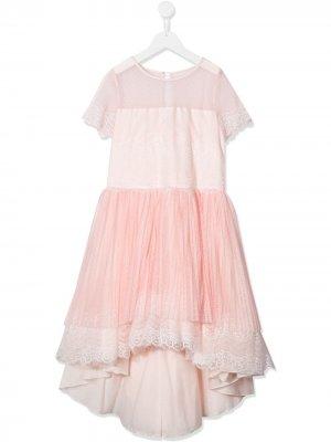 Многослойное платье с короткими рукавами Aletta. Цвет: розовый