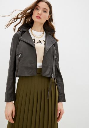 Куртка кожаная Max&Co. Цвет: коричневый