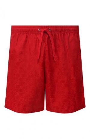 Плавки-шорты Moschino. Цвет: красный
