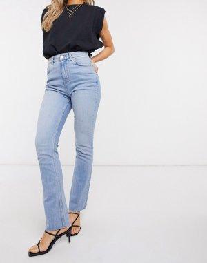 Светлые расклешенные джинсы в стиле 70-х -Синий ASOS DESIGN