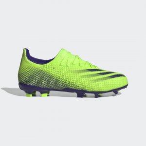 Футбольные бутсы X Ghosted.3 FG Performance adidas. Цвет: зеленый