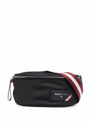 Поясная сумка с нашивкой-логотипом Bally. Цвет: черный