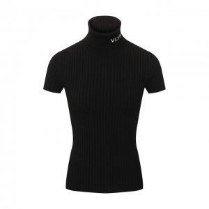 Пуловер из вискозы Valentino. Цвет: чёрный