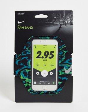Черный наручный чехол для телефона с принтом Running-Черный цвет Nike
