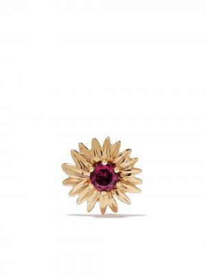 Серьга Bouquet из желтого золота Aurelie Bidermann. Цвет: золотистый