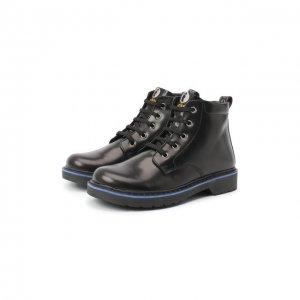 Кожаные ботинки Walkey. Цвет: чёрный