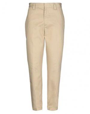 Повседневные брюки STUSSY. Цвет: бежевый
