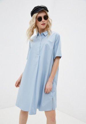 Платье UNQ. Цвет: голубой