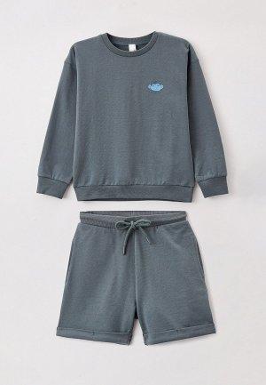 Пижама Sela. Цвет: бирюзовый