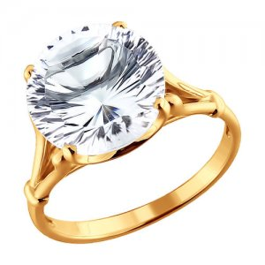 Перстень с горным хрусталём SOKOLOV