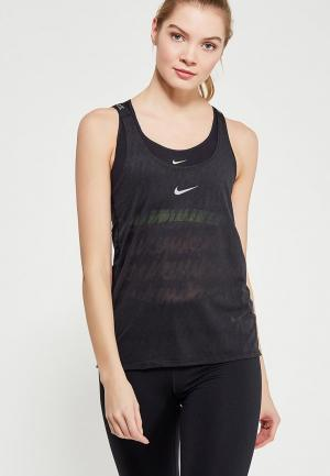 Майка спортивная Nike Womens Dry Training Tank. Цвет: черный