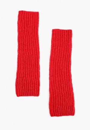 Митенки United Colors of Benetton. Цвет: красный