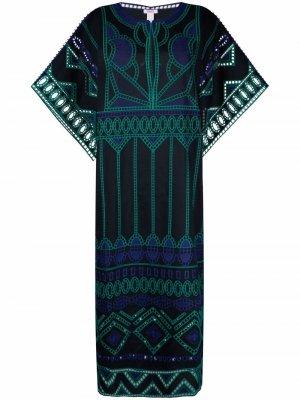 Пляжное платье Estuary Eres. Цвет: синий