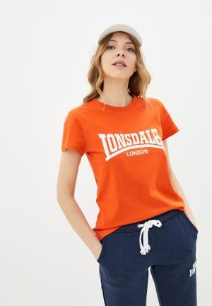 Футболка Lonsdale. Цвет: оранжевый