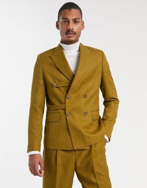 Коричневый свободный пиджак с ремешками от комплекта ASOS WHITE