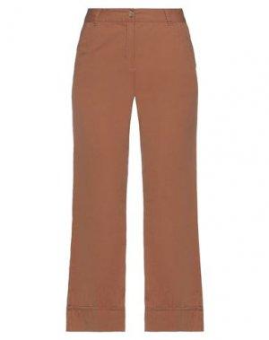 Повседневные брюки ICHI. Цвет: желто-коричневый