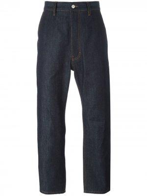 Широкие джинсы AMI. Цвет: синий